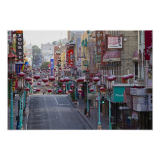 Chinatown on Grant Street in San Francisco, Poster