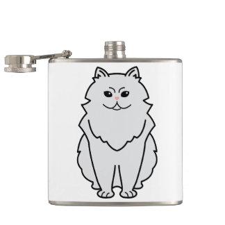 Chinchilla Cat Cartoon Hip Flask