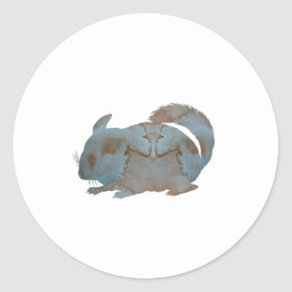 Chinchilla Classic Round Sticker
