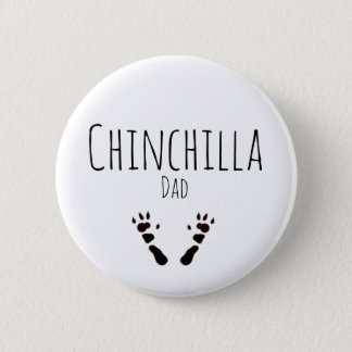 Chinchilla Dad - Paw-print Design 6 Cm Round Badge
