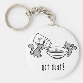 Chinchilla got dust keychain