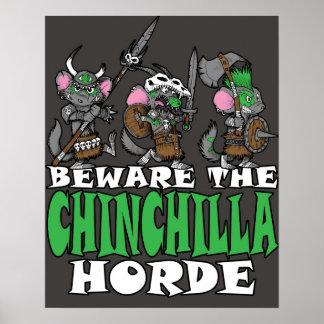 Chinchilla Horde Poster