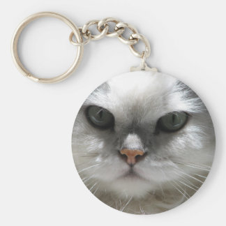 Chinchilla Persian Cat Key Ring