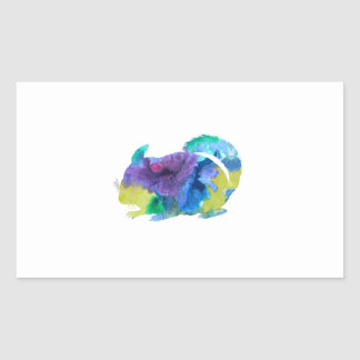 Chinchilla Rectangular Sticker