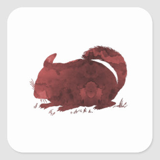 Chinchilla Square Sticker