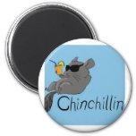 chinchillin 6 cm round magnet