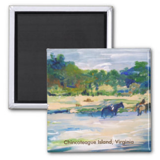 Chincoteague Island Horse Painting Magnet