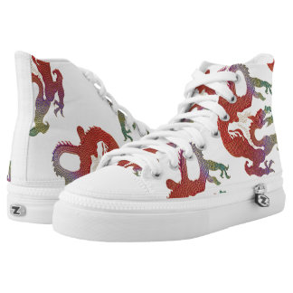Chines Dragons High Tops