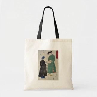 Chinese admire Koshu fan by Utagawa,Sadahide Canvas Bag