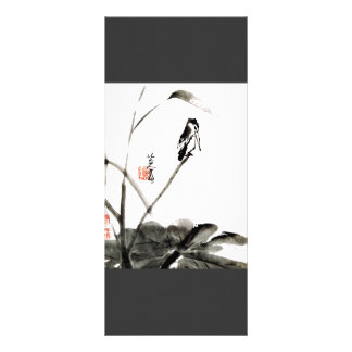 Chinese ancient watercolor painting big bookmark rack card design