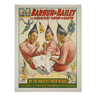 Chinese Artists Troupes Circus Poster
