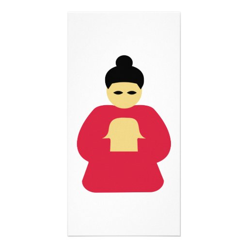 Chinese asian person photo cards