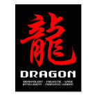 Chinese Astrology Dragon Postcard