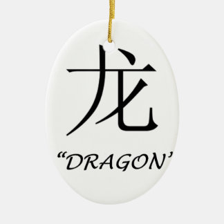 "Chinese astrology ""Dragon"" symbol Ceramic Oval Decoration"