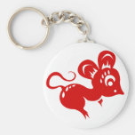 Chinese Astrology Rat Illustration Keychains