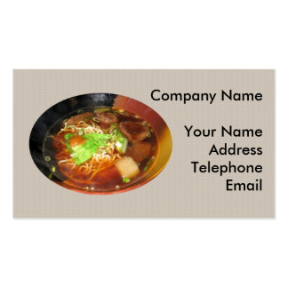 Chinese Beef Noodle Dish Business Card Template