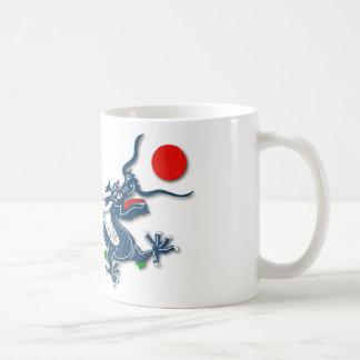 Chinese Blue Dragon on White Basic White Mug