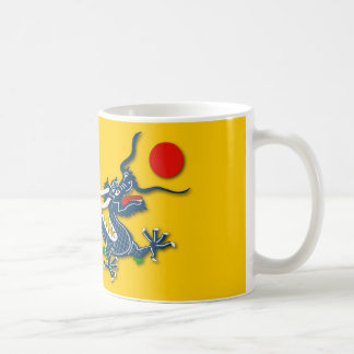 Chinese Blue Dragon on Yellow Flag Coffee Mug