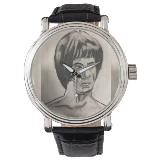 Chinese Boxer Art Sketch Wristwatch