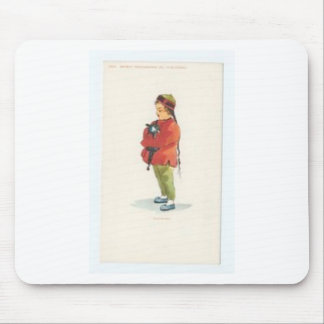 Chinese Boy and Playmate Mouse Pad