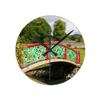 Chinese bridge, gardens, Scotland Round Clock