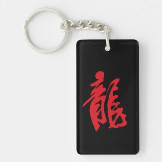 Chinese calligraphy key ring