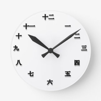 Chinese Character Clockface Round Clock