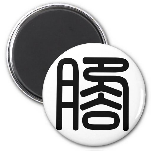Chinese Character : jiao, Meaning: feet Magnet