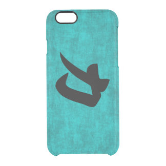 Chinese Character Painting for Strength in Blue Clear iPhone 6/6S Case