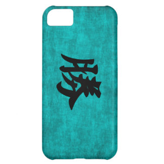 Chinese Character Painting for Success in Blue iPhone 5C Case