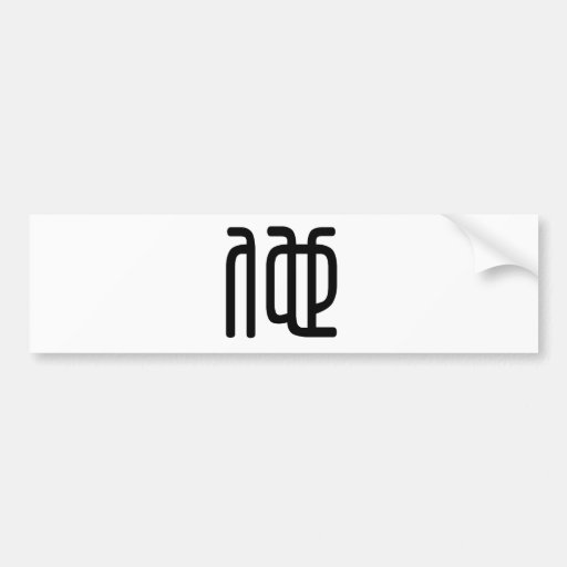 Chinese Character : ta, Meaning: he Bumper Sticker