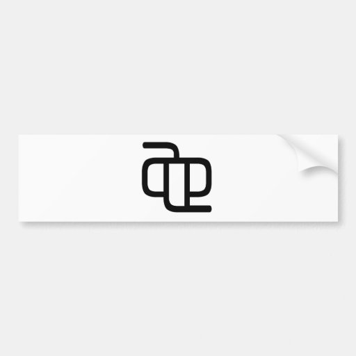 Chinese Character : ta, Meaning: it Bumper Stickers