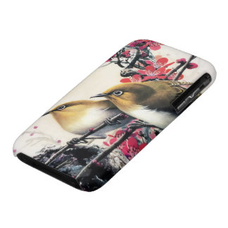 Chinese Cherry Blossom and Flowerpecker iPhone 3 Case-Mate Case