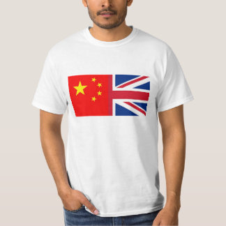 Chinese - China - British Flag - Union Jack - UK T-Shirt