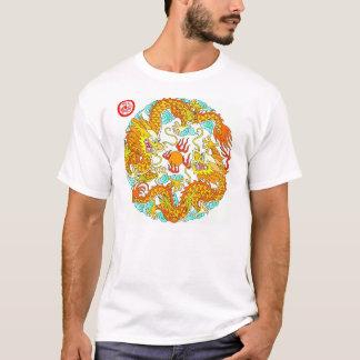 Chinese Circle Dragon Design T-Shirt