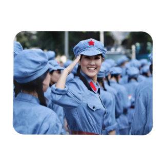 Chinese Communist Rectangular Photo Magnet