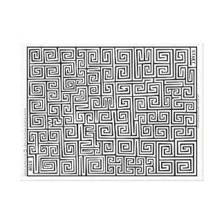 Chinese Confucianism I Maze by Blaise Gauba Canvas Print