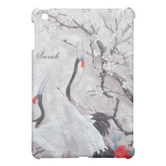 Chinese Cranes and Cherry Blossom oil Painting iPad Mini Case