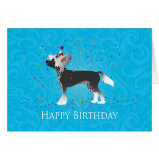 Chinese Crested Birthday Design Card