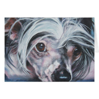 Chinese Crested blank card