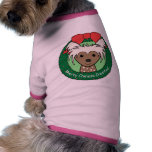 Chinese Crested Christmas Pet T Shirt