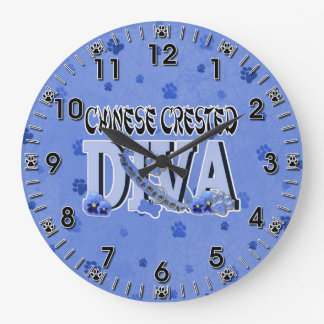 Chinese Crested DIVA Large Clock