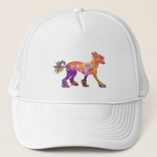 Chinese crested dog 01 in watercolor 2 trucker hat