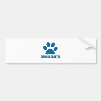 CHINESE CRESTED DOG DESIGNS BUMPER STICKER