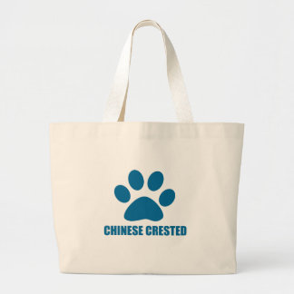 CHINESE CRESTED DOG DESIGNS LARGE TOTE BAG