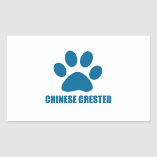 CHINESE CRESTED DOG DESIGNS RECTANGULAR STICKER