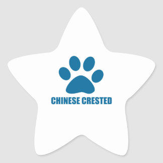CHINESE CRESTED DOG DESIGNS STAR STICKER