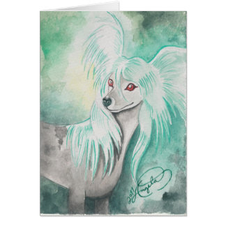 Chinese Crested Dog ~ Grzywacz Chiński Greeting Card