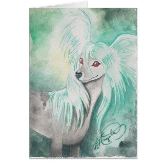 Chinese Crested Dog ~ Grzywacz Chiński Note Card