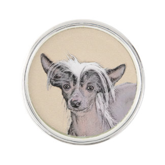 Chinese Crested (Hairless) 2 Lapel Pin
